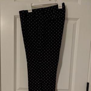 NWT - Black dot pants (6 petite)